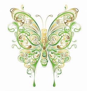 Abstract Floral Butterfly Vector Art | Free Vector ...