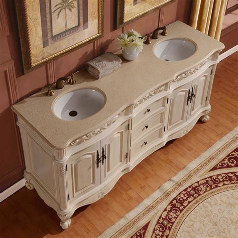 antique kitchen cabinets g4083 72 sink vanity marfil marble top cabinet 1275