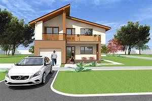 Two storey house design in Artlantis. 245 sq.meters