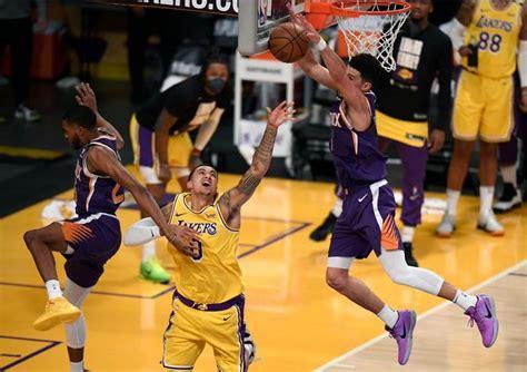 Phoenix Suns 113-100 LA Lakers: Devin Booker catches fire ...