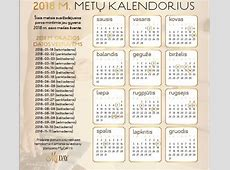 Kalendorius 2018 m Download 2019 Calendar Printable with
