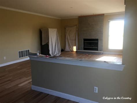 Painting Ideas For Kitchens - renovation progress the half wall calypso in the country