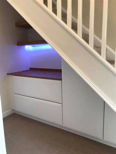 See more ideas about stair storage, under stairs, understairs storage. Under Stairs Fitted Storage Blue Lighting   Understairs ...