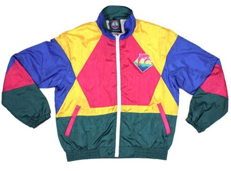 colorful windbreakers jacket retro 90s style colorful school