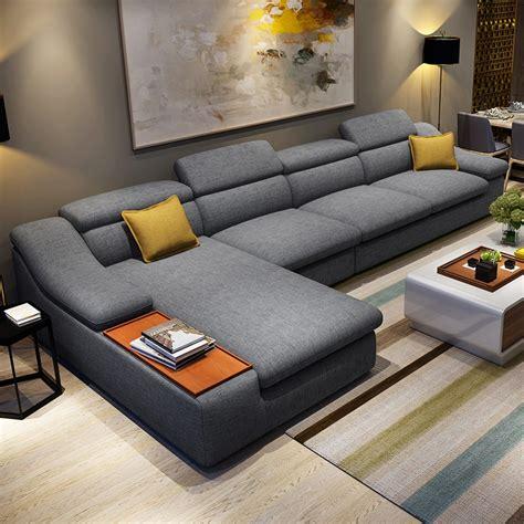 living room furniture modern  shaped fabric corner