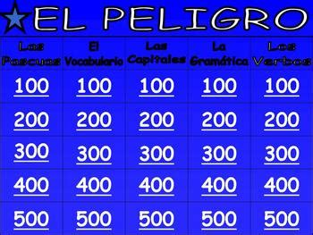 awesome spanish jeopardy game culture grammar