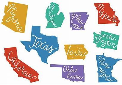 State Outlines States Vector Arizona Vectors Outline