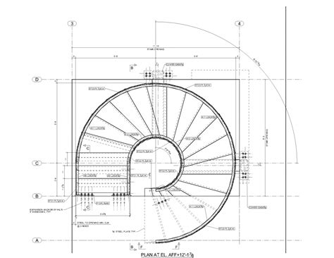 circular staircase plans advanced detailing corp steel stairs shop drawings