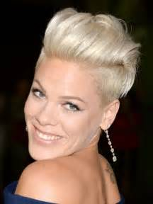 Funky Short Hairstyles Pink