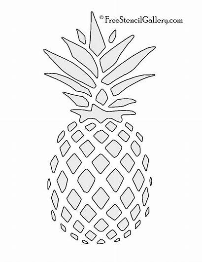 Pineapple Stencil Stencils Painting Craft Printable Patterns