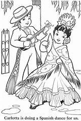 Coloring Pages Hispanic Ribbon Heritage Web Jones Spanish Adult Dance Picasa Bonnie Books Sheets Albums Albumes Flamenco Calendar Culture Month sketch template