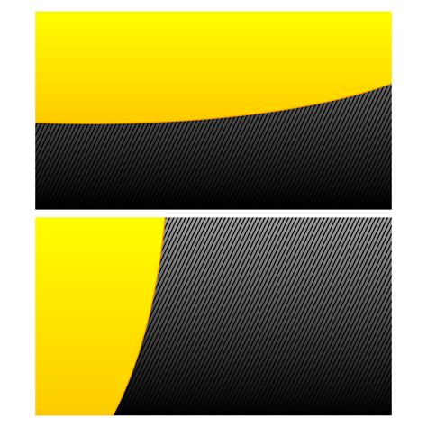 vector    yellow wave business card