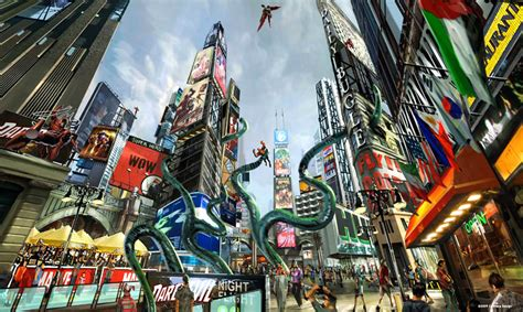 Marvel Superhero Theme Park Concept Art — Geektyrant