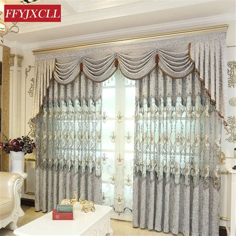 Custom Made Curtains And Drapes by Home Custom Made Europe Luxury Chenille Embroidered Tulle
