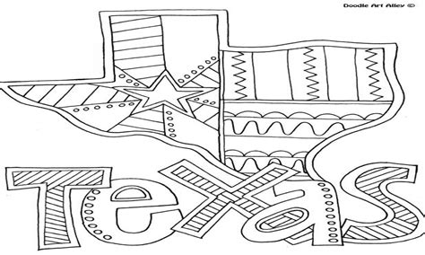 Nice State Of Texas Coloring Page Vignette Example