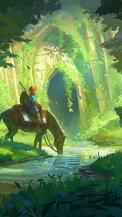 Botw Zelda Legend Phone Wallpapers Iphone Breath