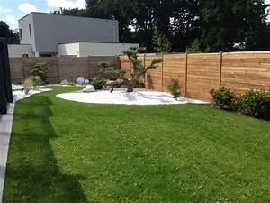 parterre de galets amazing parterre de galets et ardoises With beautiful faire un jardin zen exterieur 12 fontaines exterieur style moderne