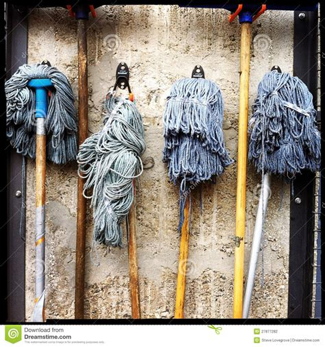 cleaning mops stock photography image