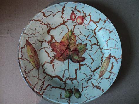 taller de pintura decorativa plato de vidrio