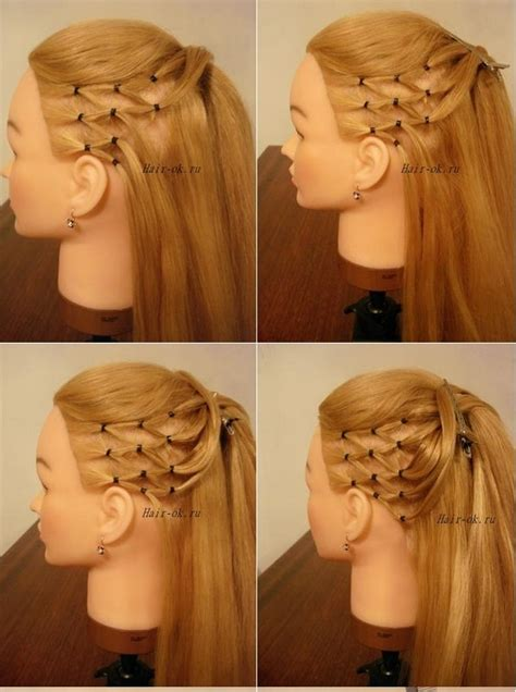 diy high ponytail  side mesh hairstyle