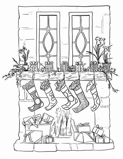Coloring Stocking Christmas Printable Placemats Pages Decorate