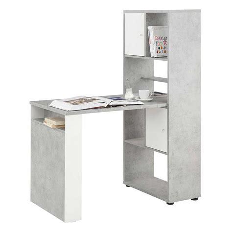 Schreibtisch Weiß Mit Regal by Schreibtisch Jansonma In Beton Grau Und Wei 223 Mit Regal