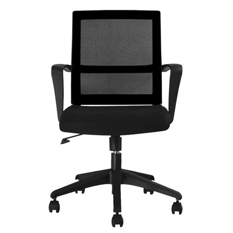 Mesh Mid Back Chair by It Mcb064 Black Finether Mid Back Swivel Mesh Task
