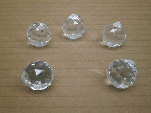 Acrylic Chandelier Crystals Parts by Lot Of 20 Spherical Globe Tear Drop Prism Acrylic Crystals