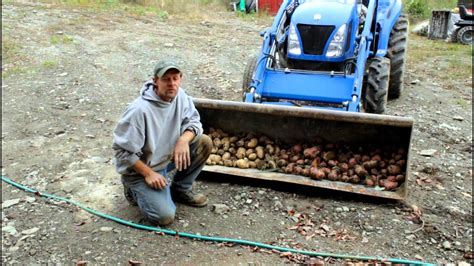 part   harvest homemade potatoe diggerhiller
