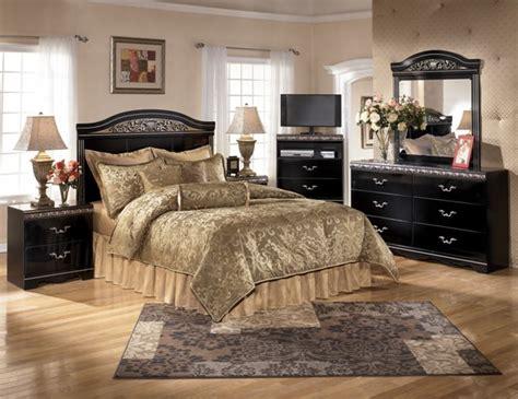 ashley furniture constellations black pc bedroom set