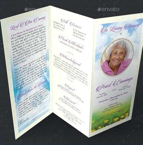 Funeral Program Template Free Editable Funeral Program Template Microsoft Word