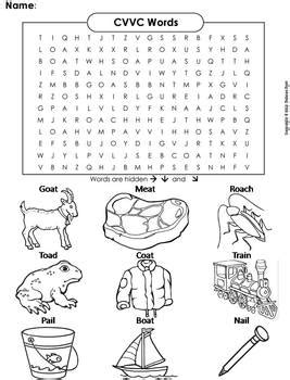 vcc words worksheets