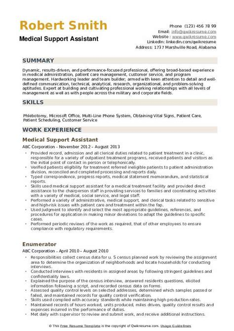 Support Assistant Resume Sle by Support Assistant Resume Sles Qwikresume