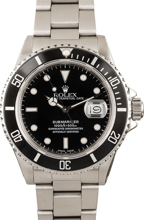 Buy Used Rolex Submariner 16800 | Bob's Watches - Sku ...