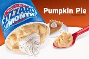 Pumpkin Pie Blizzard Dairy Queen