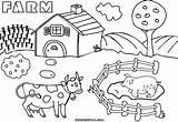 Farm Coloring Colorings Farm9 sketch template