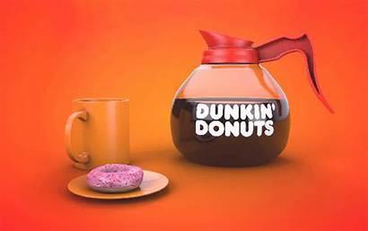 Donuts Coffee Dunkin Behance Pot Morning