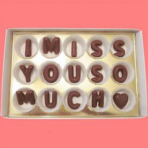i miss you so much large milk chocolate letters by With large chocolate letters