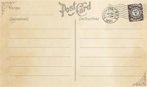 printable vintage postcard recipe cards