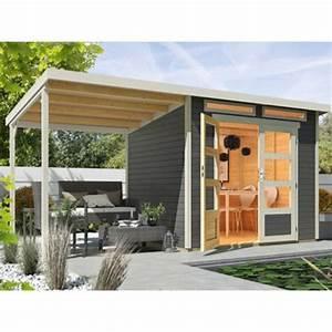Obi Gartenhaus Holz : wolff finnhaus holz gartenhaus venlo mit schleppdach titangrau 426 cm x 213 cm von obi ansehen ~ Whattoseeinmadrid.com Haus und Dekorationen