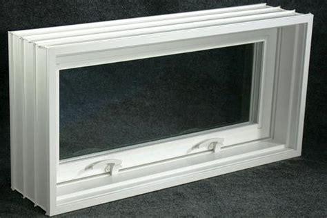 northview perma buk pro white vinyl hinged basement block window hopper  menards