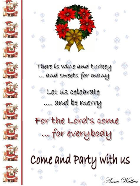 christmas invitation template and wording ideas christmas celebrations