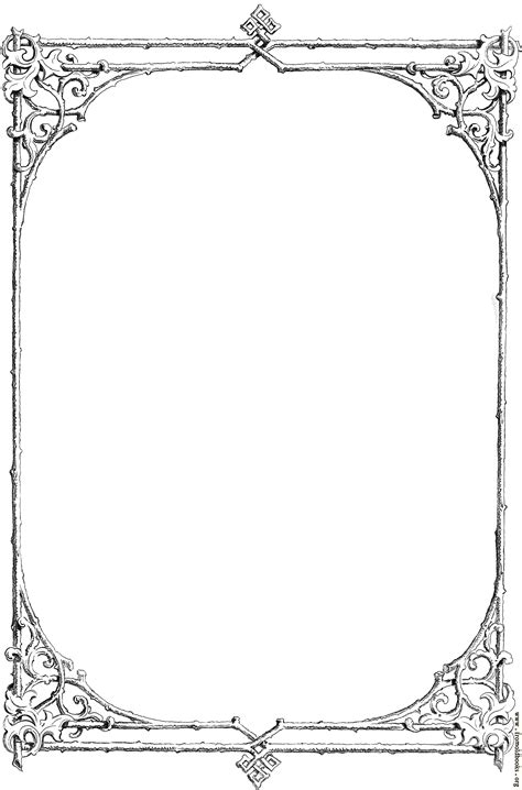 Free clip-art: Victorian border of twigs and leaves [image