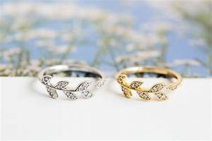 cz leaf branch ringcute ringcz ringstretch ring With stretch wedding ring