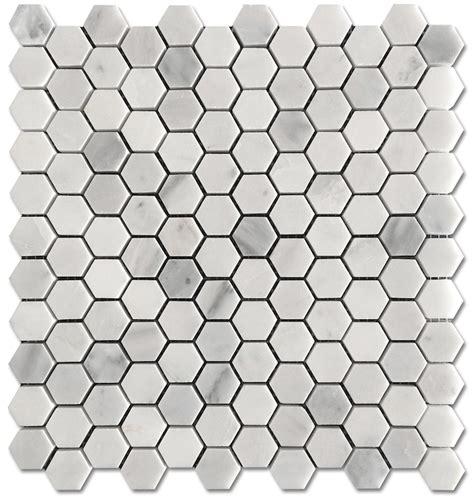 hexagon mosaic floor tile carrara pietra hexagon honed 1 quot mosaic floor and wall tile