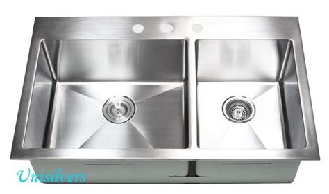 top mount kitchen sinks stainless steel 36 quot 15mm radius corner topmount bowl 60 40 9485