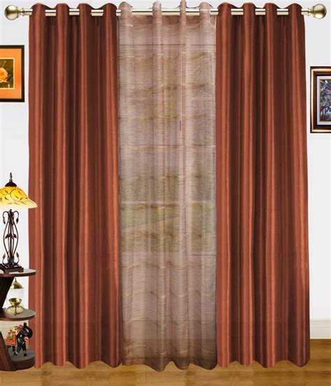 dekor world set of 3 window sheer eyelet curtains stripes