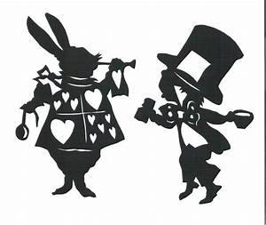 White Rabbit Alice In Wonderland Silhouettes Clipart ...