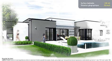 maison architecturale pas032t maison contemporaine toit