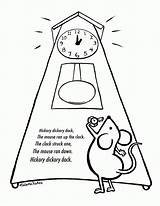 Coloring Hickory Dickory Dock Clipart Clip Library sketch template